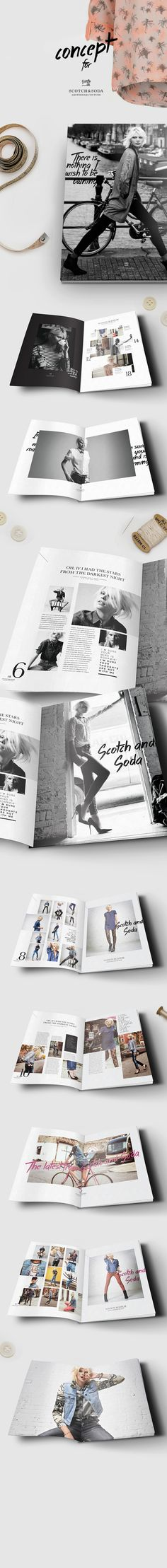 Scotch & Soda журнал / Lookbook концепция на редакционной дизайна Подается