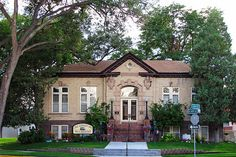 """Carnegie library went from Sterling (CO) Public Library, to Old Library Inn, to private residence.  Filmed in an episode of """"You Live in What?"""" on HGTV.  by Edith OSB, via Flickr"""