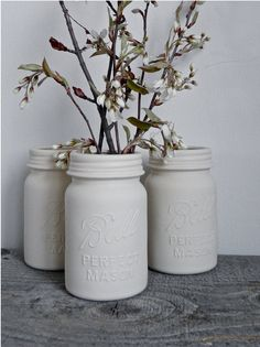 Porcelain Ball Mason Jar Vase by RevisionsDesign on Etsy, $27.00