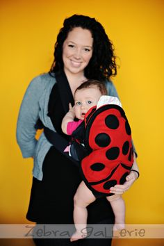 Ladybug Baby Carrier Cover quite possibly the best baby shower gift ever!   by NaturallyCraftyShop  Carries your bjorn or baby carrier to add LOTS of extra storage & pocket room.