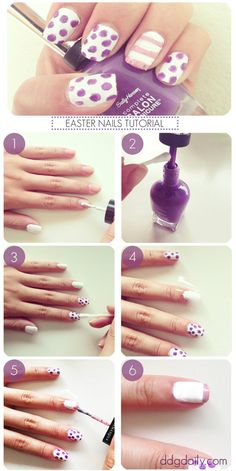 DDG How to: Easter inspired polka dot nail art