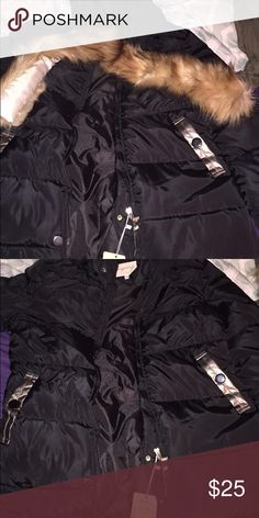 Women's coat Never worn. I ordered it on amazon in a 3x not knowing that it came from China, so it is way too small on me. It's more like a medium/large. The seller would not let me return the item and he also refunded me only half of what I paid so I just need the other half back, therefore I cannot negotiate my price. Comes with fur attachment for the hood! Jackets & Coats