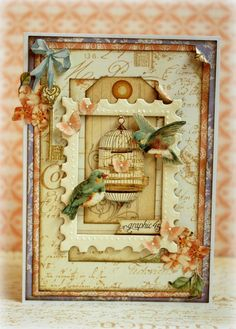 Stunning Secret Garden card by Romy Veul! Amazing layering! #Graphic45 #cards