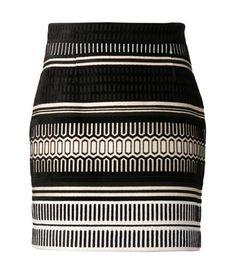 PROENZA SCHOULER baja velvet jacquard skirt