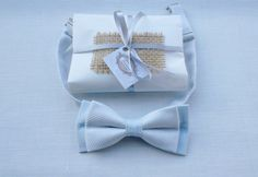 Mens Light Blue Bow Tie / PreTied Bow Tie / by KristineBridal, $39.99