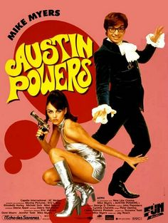 Austin Powers International Man of Mystery with Mike Myers Shagadelic! Oh Austin behave! 90s Movies, Comedy Movies, Great Movies, Movies To Watch, Movie Tv, Throwback Movies, Cult Movies, Austin Powers, Saint Yves