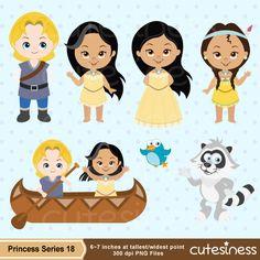 Princess Clipart, Princess Digital Clipart, Pocahontas Clipart