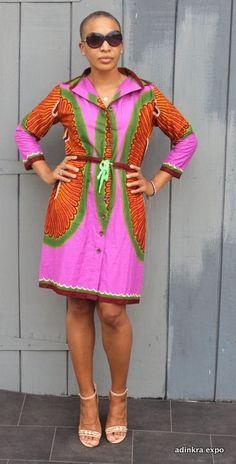 Purple Sunburst Ankara dress