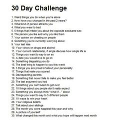 30 Day Journal/Diary Entry Challenge~Some Questions You Seriously Have Too Think…
