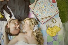 Scrabble themed wedding - very cute! This idea would be great as an engagement shoot idea too :D