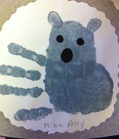 Handprint Koala craft for preschoolers