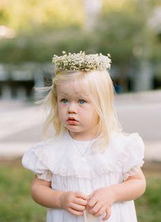 classic flower girl with floral crown | Melissa Schollaert #wedding
