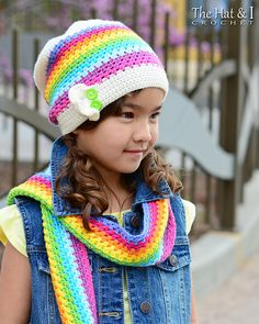 Ravelry: Crayon Box Hat & Scarf pattern by Marken of The Hat & I