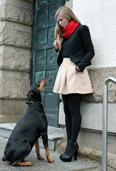 Winter style. For a skirt, I really like this. And the shoes are adorable.