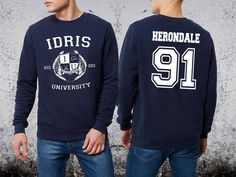 Herondale 91 Sweatshirt Idris University Unisex by Ridaar on Etsy