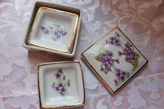 Vintage Violet Trinket Box