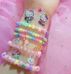 Little Playland Little Playland,Kawaii Safe Age Regression Playland Related Simple Popsicle Stick Catapult Designs Kawaii Accessories, Kawaii Jewelry, Cute Jewelry, Pastel Fashion, Kawaii Fashion, Fille Indie, Kandi Bracelets, Aesthetic Indie, Aesthetic Pastel