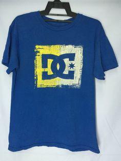 DC shoes Shirt Medium DC Shoes Skate Blue Plain T-Shirt DC Shoes Streetwear Men's Size M by MudeanDean