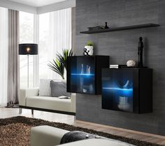Browse modern and classic living room wall units for tv & entertainment center Wall Mounted Cabinet, Living Room Wall Units, Modern Wall Units, Living Room Modern, Classic Living Room, Modern Furniture Living Room, Wall Unit, Living Room Furniture, Modern Living Room Wall