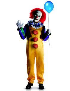 Déguisement Clown Terrorisant adulte luxe Ça™ : Ce déguisement de clown est sous licence officielle Ça™. Il est composé d'un masque, d'une combinaison, d'un gilet, d'un col et de gants. (chaussures et...