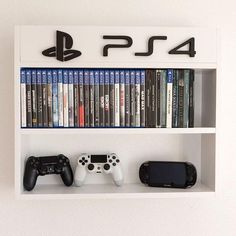 My PlayStation Gaming Room I've Tried To Include All Of . 50 Gaming Man Cave Design Ideas For Men Manly Home Retreats. Home and Family Nerd Room, Gamer Room, Gaming Shelf, Boy Room, Kids Room, Kids Den, Deco Gamer, Home Music, Video Game Rooms
