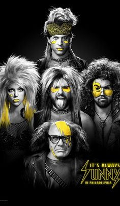 It's Always Sunny in Philadelphia Created by Rob McElhenney, Glenn Howerton.  With Charlie Day, Glenn Howerton, Rob McElhenney, Kaitlin Olson. Four young friends with big egos and slightly arrogant attitudes are the proprietors of an Irish bar in Philadelphia.