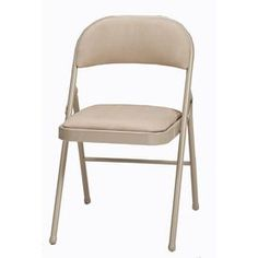 Style Selections Steel Folding Chair. $19 at Lowe's. Get these if you want padded seats and backs.