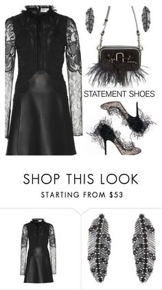 """""""Statement Shoes - Valentino"""" by deborah-calton ❤ liked on Polyvore featuring Zuhair Murad, Marc Jacobs, Valentino and statementshoes"""