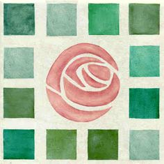 Charles Rennie Mackintosh Tile Murlas Designs on Hand Painted Tiles