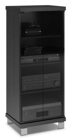 Luxury Mission Style Stereo Cabinet