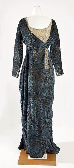 Dress, Evening  Jeanne Hallée (French, 1880–1914)  Date: 1910–14 Culture: French Medium: silk, glass