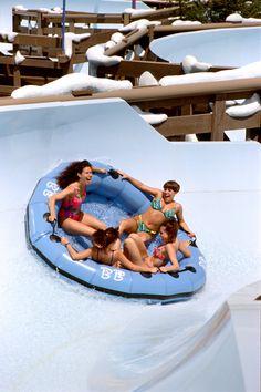 Teamboat Springs Family Raft ride at Disneys Blizzard Beach, Walt Disney World Resort Disney World Water Parks, Disney World Resorts, Disney Vacations, Disney Parks, Walt Disney World, Summer Vacations, Disney Blizzard Beach, Florida Holiday, Disney Rides