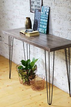 Konzolový stôl SCANDI OLD BROWN NO.1 Annie Sloan, Entryway Tables, Brown, Handmade, Painting, Furniture, Home Decor, Hand Made, Decoration Home