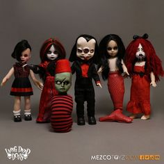 "LIVING DEAD DOLLS SERIES 30 VARIANTS - SET OF 6 x FIGURES (10"" scale) MEZCO in Spielzeug, Action- & Spielfiguren, Film, TV & Videospiele 