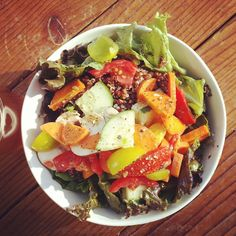 Farmers market salad made by Anthony
