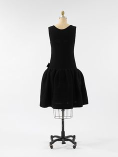 Cocktail dress House of Balenciaga  (French, founded 1937) Designer: Cristobal Balenciaga (Spanish, 1895–1972) Date: 1955–65 Culture: French Medium: wool Dimensions: [no dimensions available] Credit Line: Gift of Rosamond Bernier, 1973