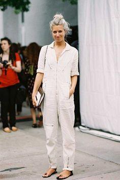 Ivory jumpsuit Sarah Harris, Fashion Features Director, Vogue UK