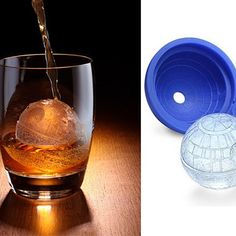 """Star Wars fans, cubes are not the ice you are looking for. Freeze your own Death Star with this mold so that the force is strong with every drink. * Create ice spheres that look like the Death Star * Creates 1 Death star (how many Death stars do you need?) * Made of heat and cold resistant food-safe silicone * Also great for molding chocolates or soap * Freezer and dishwasher safe * Dimensions: 2.4"""" in diameter"""