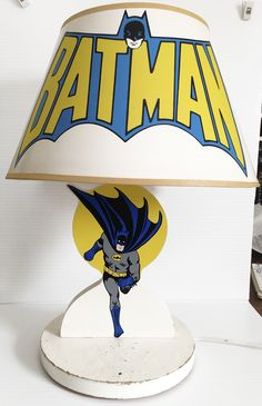 Vintage Batman Lamp, Minty (New Old Stock) Batman Shade, Working, 1977, DC Comics | eBay $125