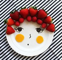 Make your own Play with your food plates:  Thrift store plates, porcelain marker, bake.