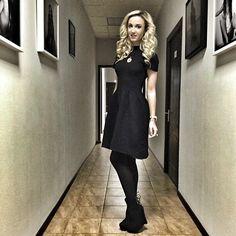 Люблю все свои платья Новая коллекция С&С by Olga Buzova во всех магазинах С&С, эта модель есть в черном и бежевом цвете, 4890 руб, сидит идеально  ТЦ Лотте Плаза, 3 этаж #dressbyolgabuzova