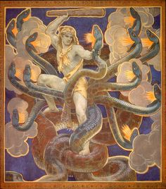 John Singer SARGENT  [American Painter, 1856-1925]  Hercules and the Hydra, 1921