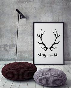 Stay Wild  Scandinavian Poster Affiche by PixieDustDigital on Etsy