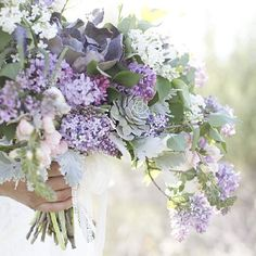 A sweet French blue and purple design inspired by a flower shop + how to style a greenhouse wedding! - Image by Lauren Albanese