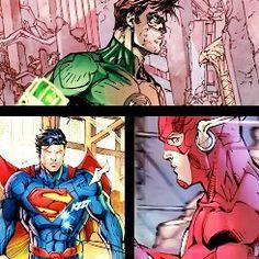 Superman, Flash, Green Lantern