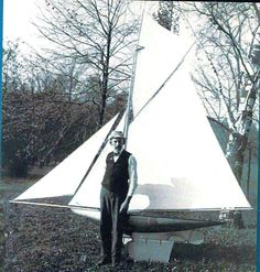 https://flic.kr/p/azB4WL | Man with a very large pond yacht