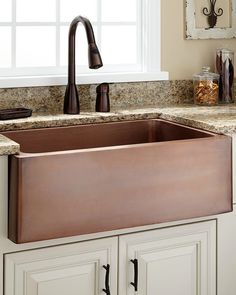 30 inch copper farm sink in white kitchen white kitchen a deep well on the vine design copper farmhouse sink is the perfect accompaniment to a gourmet kitchen generously sized to handle bulky cookware solutioingenieria Gallery