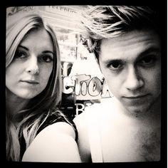 Niall and hair stylist Hannah