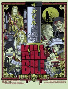 Amazing Poster Art Inspired By Quentin Tarantino Kill Bill Daryl Hannah, Uma Thurman, Chiba, Movie Poster Art, Film Posters, Poster Drawing, Print Poster, Poster Wall, Quentin Tarantino