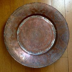 Armenian copper decorative signed plate 19nth century Copper, Plates, Signs, Tableware, Decor, Licence Plates, Dishes, Dinnerware, Decoration